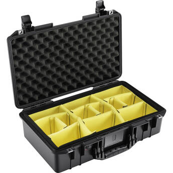 Pelican 1525AirWD Hard Carry Case with Padded Divider Insert (Black)