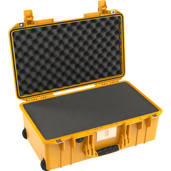 Pelican 1535AirWF Wheeled Carry-On Hard Case with Foam Insert (Yellow)