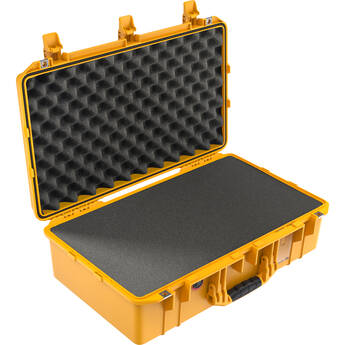 Pelican 1555AirWF Hard Carry Case with Foam Insert and Liner (Yellow)