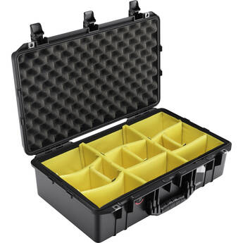 Pelican 1555AirWD Hard Carry Case with Divider Insert (Black)