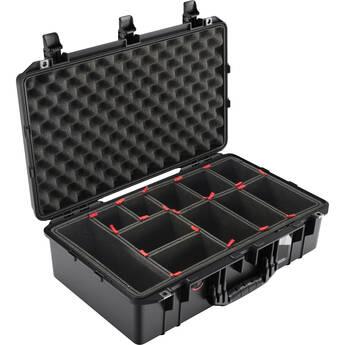 Pelican 1555AirTP Hard Carry Case with TrekPak Divider Insert (Black)