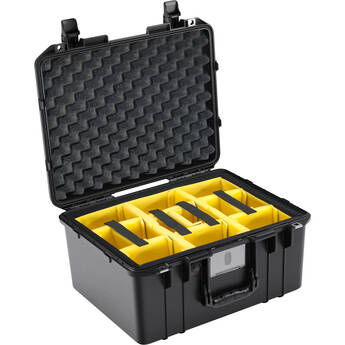 Pelican 1557AirWD Hard Carry Case with Padded Divider Insert (Black)