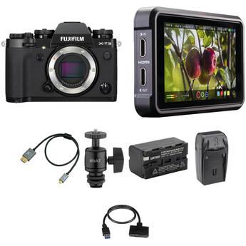 FUJIFILM X-T3 Mirrorless Digital Camera Cine Kit (Black)