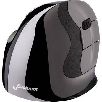 Evoluent VerticalMouse D Wireless Mouse (Medium, Dark Silver)