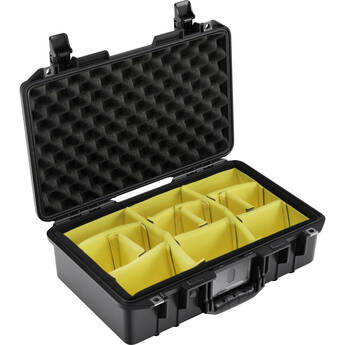 Pelican 1485AirWD Hard Carry Case with Padded Divider Insert (Black)