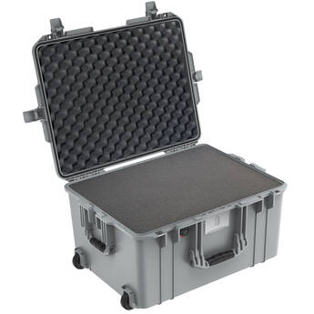 Pelican 1607AirWF Wheeled Carry-On Hard Case with Foam Insert (Silver)