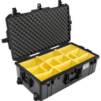 Pelican 1615AirWD Wheeled Hard Case with Divider Insert (Black)