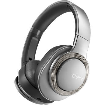Cleer Flow Noise-Canceling Wireless Over-Ear Headphones (Silver)