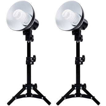 Fovitec 2-Light Product Photography Fluorescent Lighting Kit
