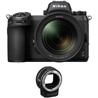 Nikon Z 6II Mirrorless Digital Camera with 24-70mm f/4 Lens and FTZ Adapter Kit