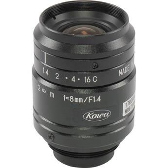 "Kowa JC1MS Series 2MP f/1.4 8mm 2/3"" C-Mount Lens"