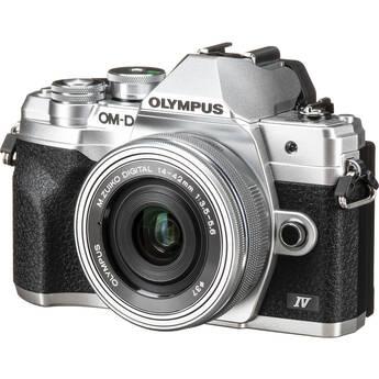 Olympus OM-D E-M10 Mark IV Mirrorless Digital Camera with 14-42mm Lens (Silver)