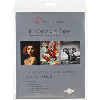 """Hahnemühle Matte Smooth FineArt Inkjet Paper Sample Pack (8.5 x 11"""", 12 Sheets)"""