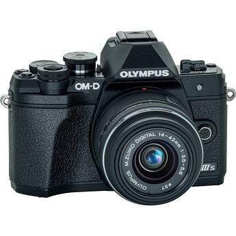 Olympus OM-D E-M10 Mark III Mirrorless Digital Camera with 14-42mm II R Lens (Black)