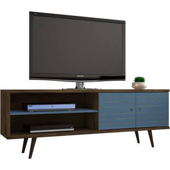 "Manhattan Comfort Liberty 62.99"" TV Stand (Aqua  Blue)"