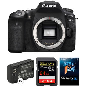 Canon EOS 90D DSLR Camera Body with Software Kit