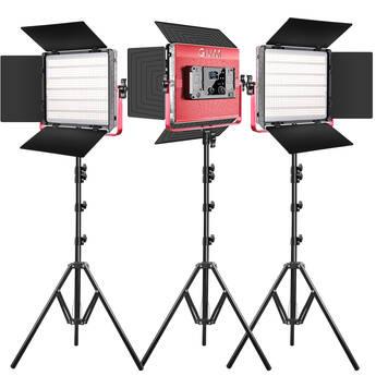 GVM RGB LED Studio Video Bi-Color Soft 1200D 3-Light Kit