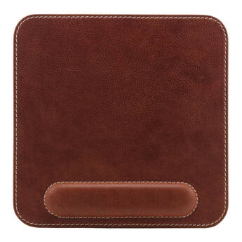 Londo Genuine Leather Mousepad with Wrist Rest (Brown)