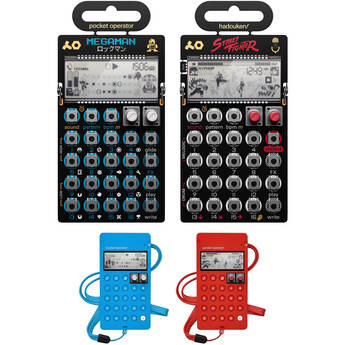 teenage engineering Mega Man and Street Fighter Pocket Operator Kit with Silicone Case (Limited Edition)