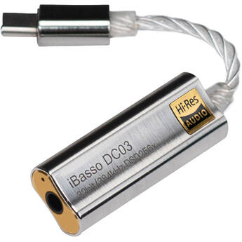 iBasso DC03 Hi-Res DAC Cable Adapter (Silver)