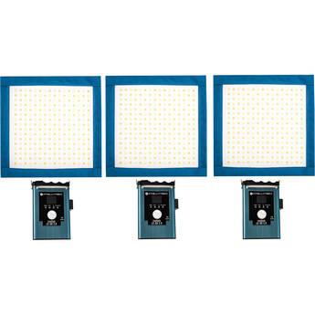 Intellytech LiteCloth LC-50 2.0 1 x 1 LED Mat Three-Light Kit (Gold Mount)
