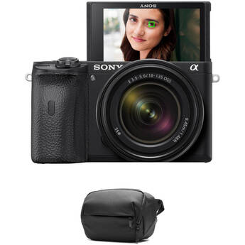 Sony Alpha a6600 Mirrorless Digital Camera with 18-135mm Lens and Accessories Kit