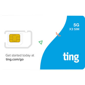 ting 5G & LTE 3-in-1 SIM Card Kit with $30 Credit