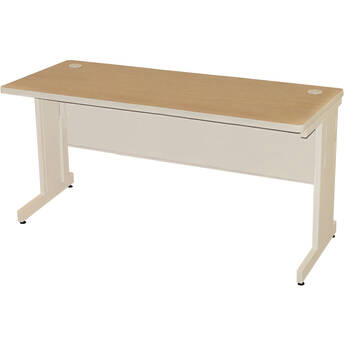 "Marvel Pronto School Training Table with Modesty Panel Back (72 x 24"", Oak Laminate/Putty)"
