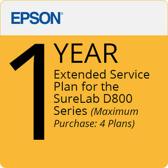 Epson 1-Year Extended Service Plan for SureLAB D800 Series