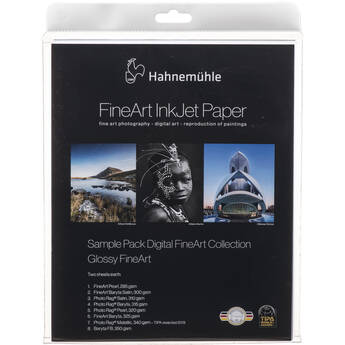 """Hahnemühle Glossy FineArt Inkjet Paper Sample Pack (8.5 x 11"""", 14 Sheets)"""