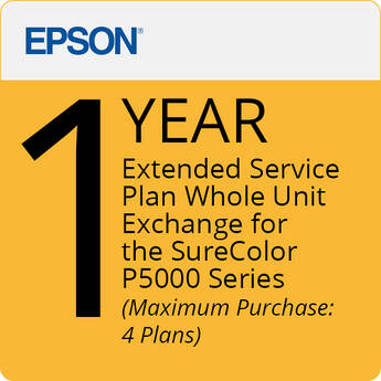 Epson 1-Year - (Pg) Extended Service Plan - Whole Unit Exchange - Maximum Purchase (4) Plan Surecolo