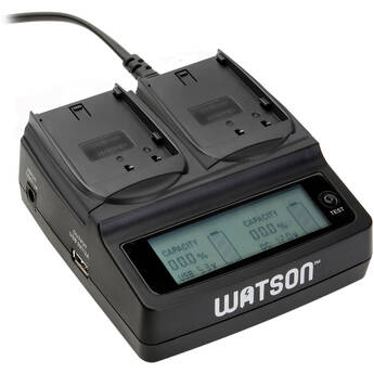 Watson Duo LCD Charger with Two DMW-BLF19 Battery Plates