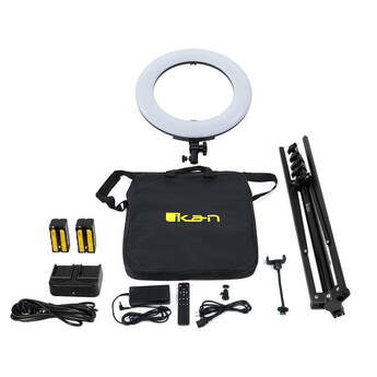 """ikan Oryon 18"""" Ring Light (Version 2) with Phone Mount, Remote, Light Stand"""