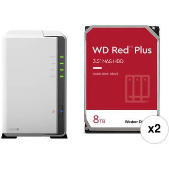 Synology 16TB DiskStation DS220j 2-Bay NAS Enclosure Kit with WD NAS Drives (2 x 8TB)