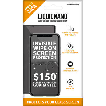 LiquidNano Ultimate Screen Protector for Smartphones with $150 Assurance