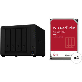 Synology 24TB DiskStation DS920+ 4-Bay NAS Enclosure Kit with WD NAS Drives (4 x 6TB)