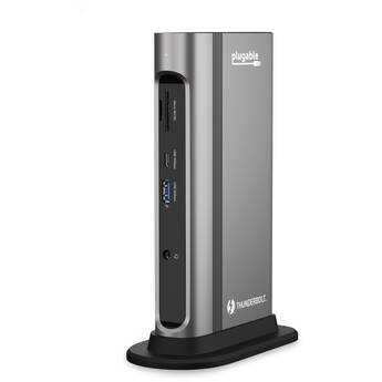 Plugable TBT3-UDZ 14-in-1 Thunderbolt 3 and USB Type-C Dual Display Dock with 96W Charging