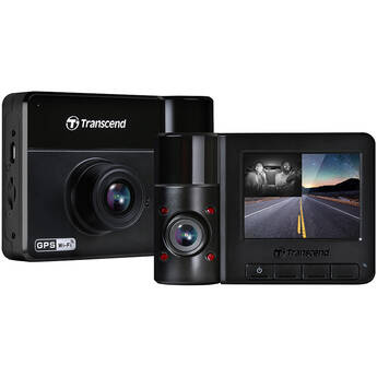 Transcend DrivePro 550B Dual Lens Dash Camera with 64GB microSD Card