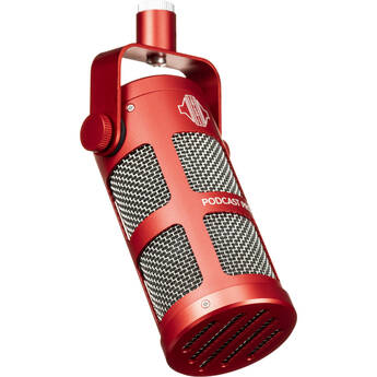 Sontronics PODCAST PRO Supercardioid Dynamic Broadcast Microphone (Red)