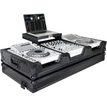 ProX DJ Coffin Flight Case for Pioneer DJM-900NXS2 Mixer and Two CDJ-3000 Multiplayers (Black on Black)