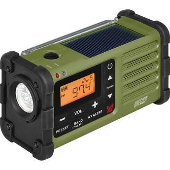 Sangean SG-112 AM/FM/Weather Rugged Portable Radio with Hand Crank & Solar Panel (Green)