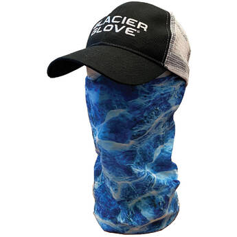 Glacier Glove Universal Face Shield - One Size Fits Most (Blue Camo)