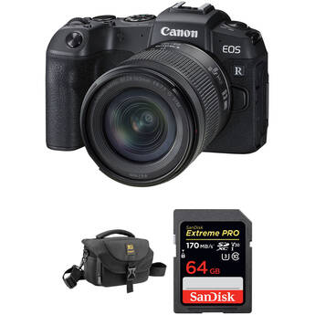Canon EOS RP Mirrorless Digital Camera with 24-105mm Lens and Free Accessory Kit