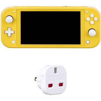 Nintendo Switch Lite Kit with US Power Adapter (Yellow, European Version)