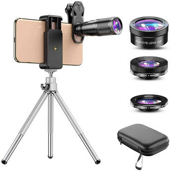 Apexel 4-in-1 Smartphone Lens with Tripod