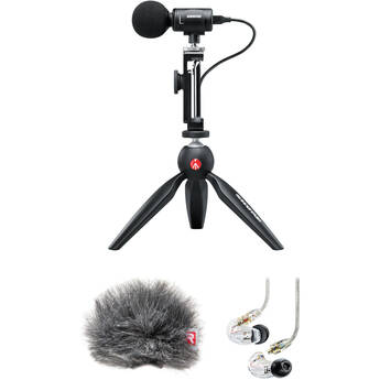 Shure MV88+ Portable Videography Kit with SE215 Earphones