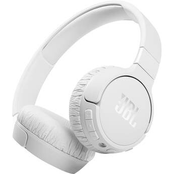 JBL Tune 660NC Noise-Canceling Wireless On-Ear Headphones (White)