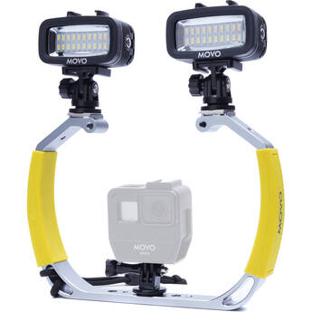 Movo Photo XL Underwater Diving Rig Bundle with 2 Rechargeable LED Lights for GoPro