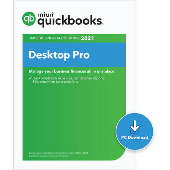 Intuit Quickbooks Desktop Pro 2021 (Download, Single User)