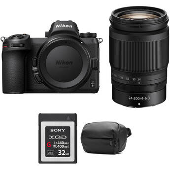 Nikon Z 6 Mirrorless Digital Camera with 24-200mm Lens and Accessories Kit
